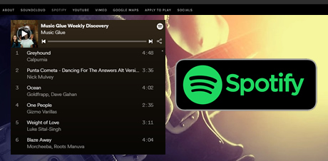integrar spotify en sitio web